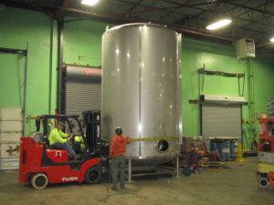 Bright tank Installation Services and Rigging